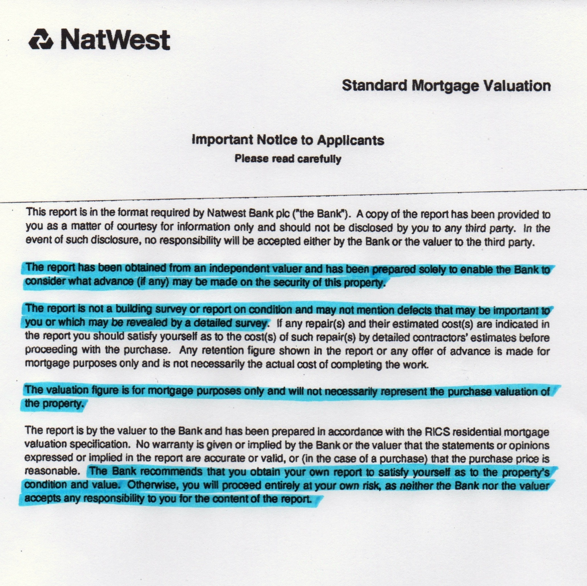 Mortgage valuation report explained
